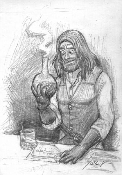 Dr. Victor Frankenstein, doing some alchemy!